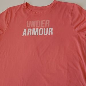 Under Armour Coral Heat Gear Loose Fit Tee XL